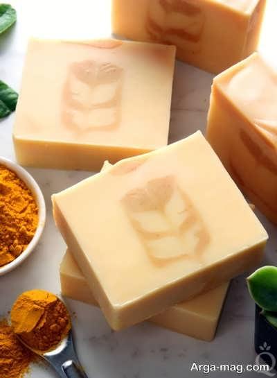 صابون زردچوبه دست ساز و طبیعی