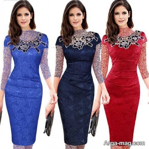 مدل لباس مجلسی گیپور