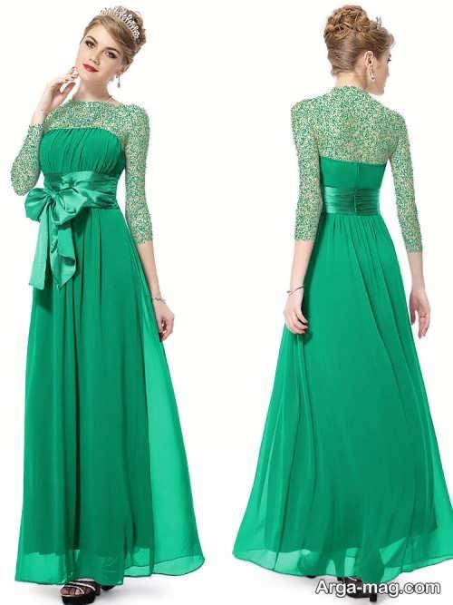 مدل لباس ست دو خواهر سبز