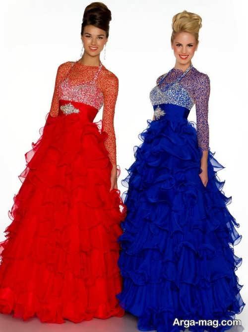 مدل لباس ست دو خواهر شیک و بلند