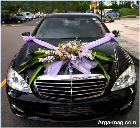 تزیین کردن ماشین عروس با تور