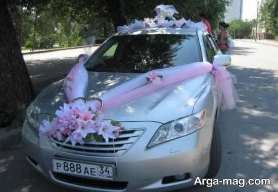 تزیین ماشین عروس با کمک تور