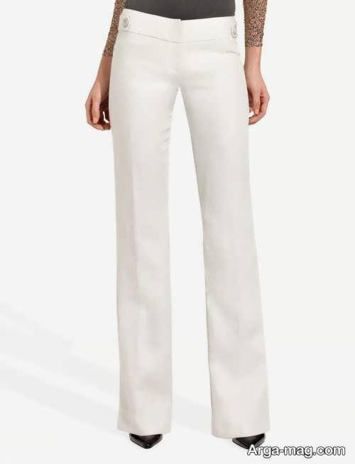 شلوار سفید زنانه