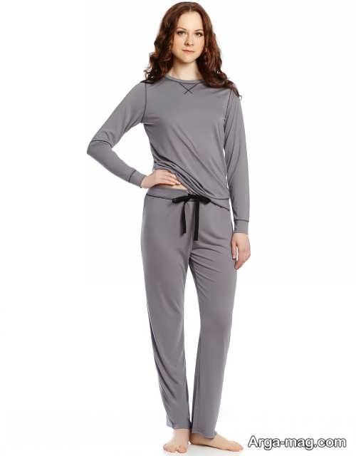 مدل لباس راحتی خاکستری