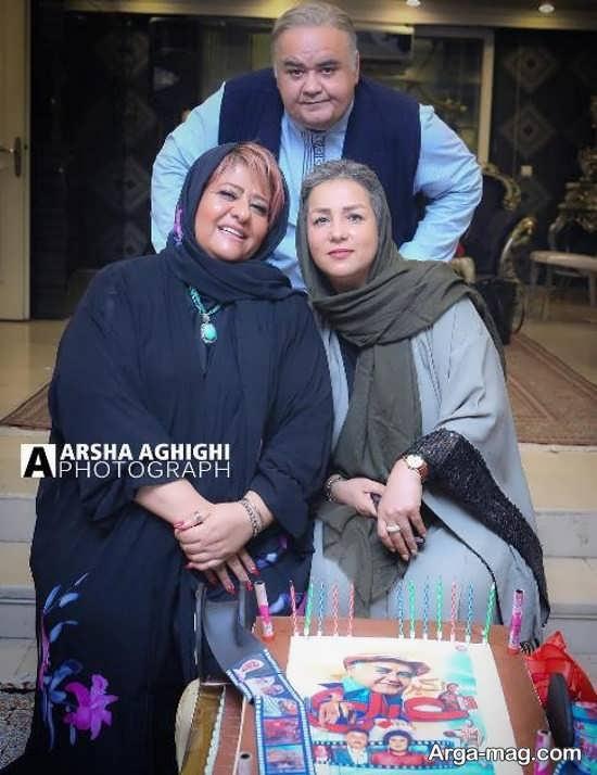 اکبر عبدی و همسرش در جشن تولد