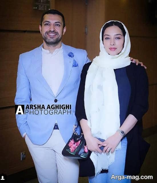 تیپ جذاب اشکان خطیبی و همسرش