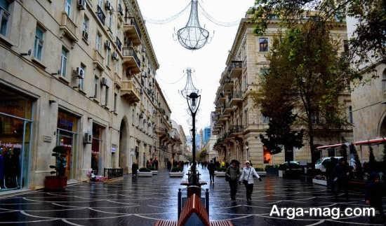 خیابان های مدرن باکو