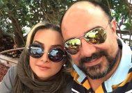 صحنه دیدنی از برزو ارجمند و همسرش در روز اول مهر