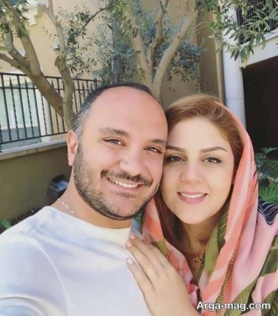 سلفی احسان کرمی و همسرش