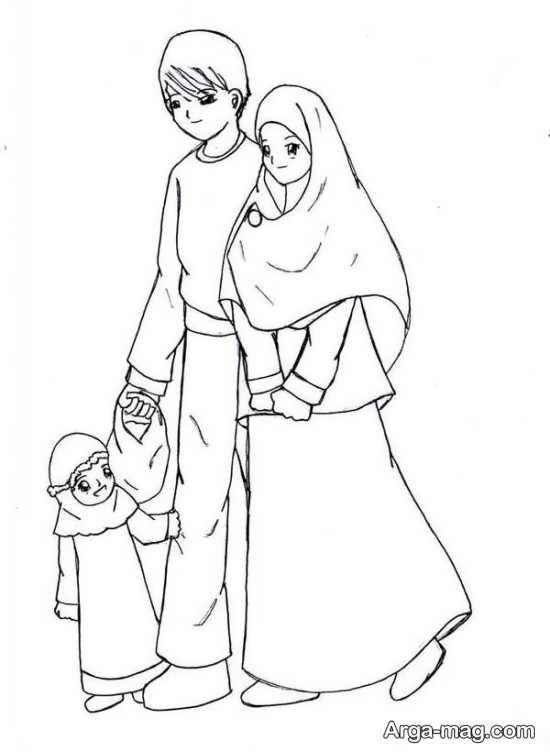 نقاشی در مورد حجاب با طرح زیبا