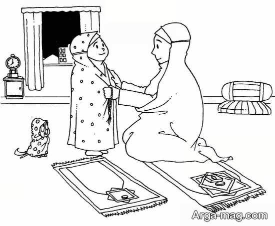 نقاشی و یادگیری حجاب