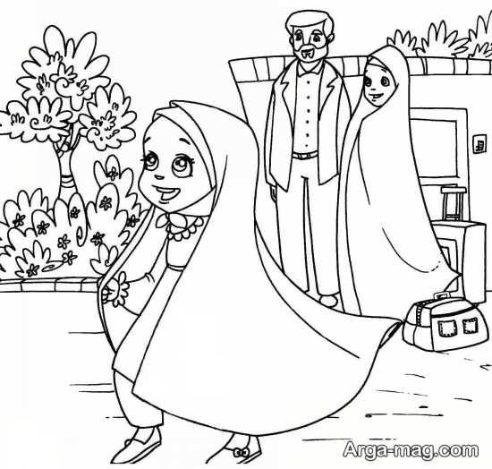 طرح نقاشی حجاب