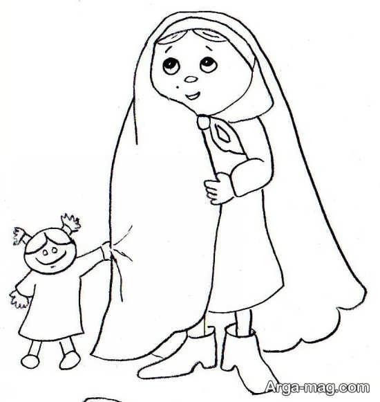 نقاشی عفاف و حجاب