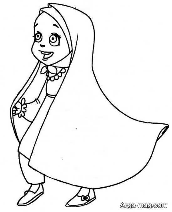 نقاشی جذاب حجاب