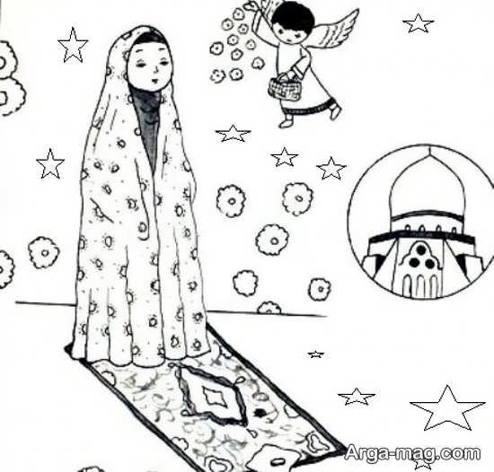 نقاشی حجاب چادر