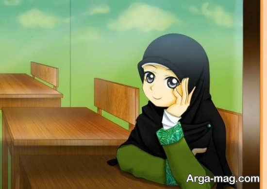 نقاشی انیمیشنی حجاب