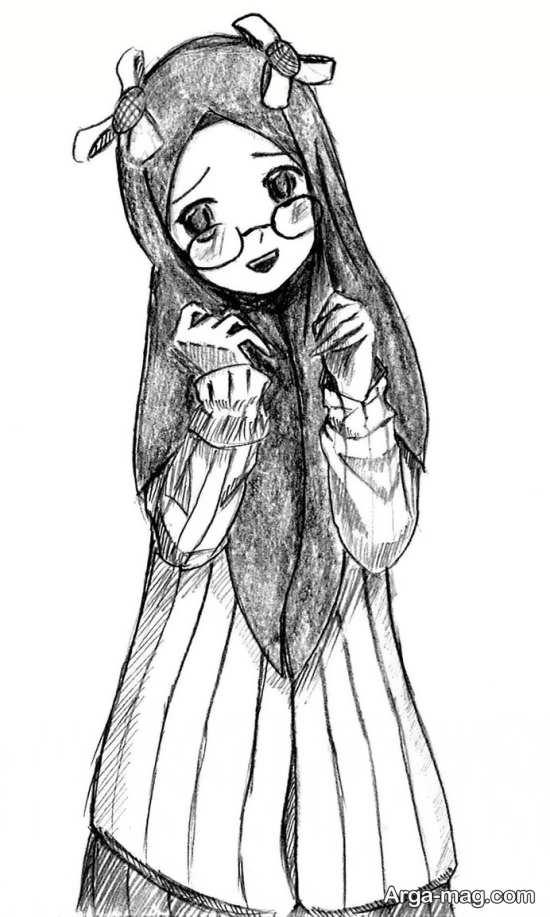 سیاه قلم و نقاشی حجاب