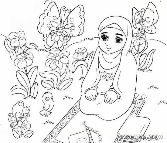 نقاشی حجاب برای دانش آموزان