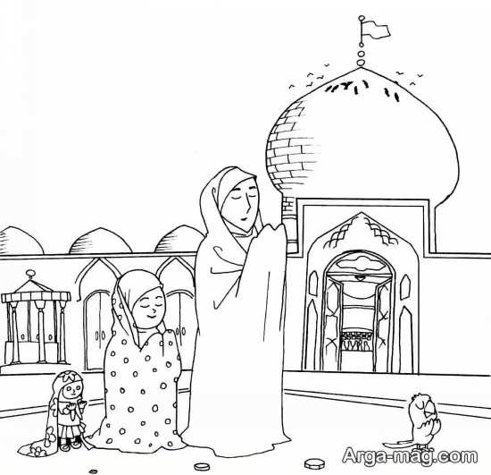 نقاشی فانتزی حجاب