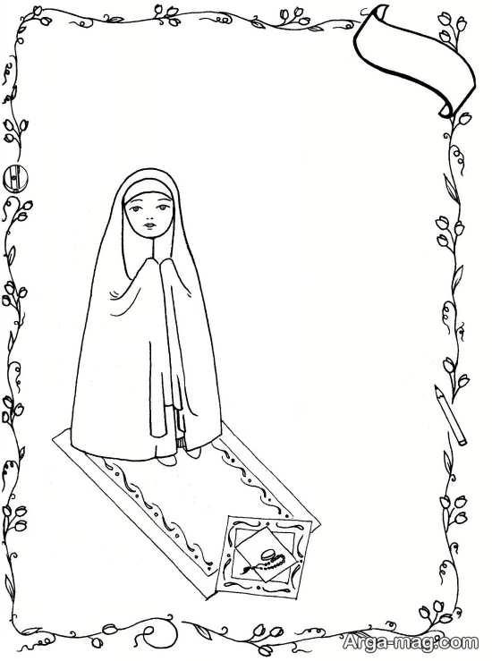 حجاب و نقاشی کودکانه