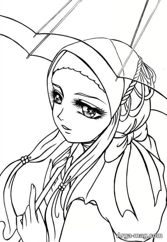 نقاشی حجاب اسلامی