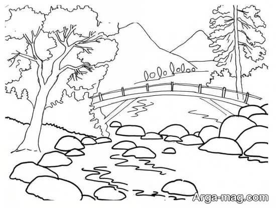 آموزش برای نقاشی جنگل