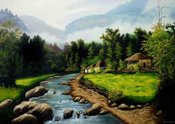 نقاشی جنگل با ایده های جدید