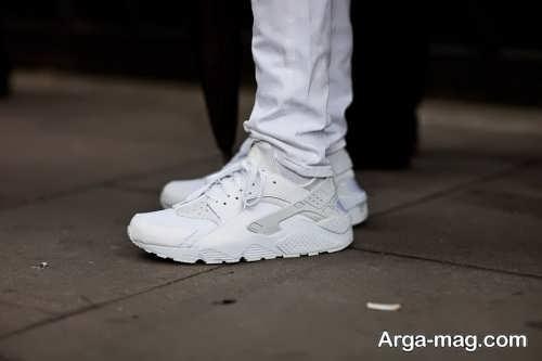 مدل کفش اسپرت و سفید پسرانه