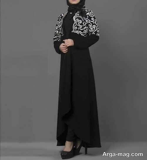 مدل مانتو مشکی و بلند دخترانه