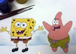 نقاشی پاتریک برای کودکان باهوش