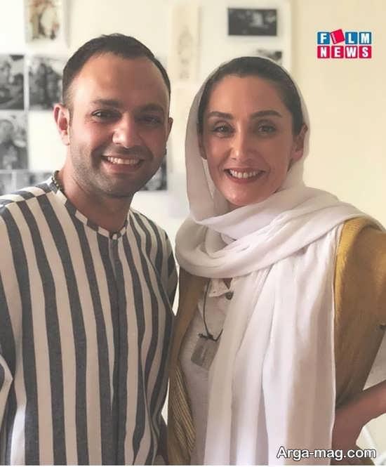 عکس صمیمانه هدیه تهرانی و صابر ابر
