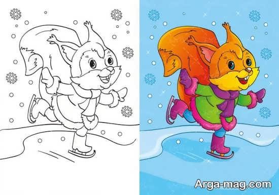 رنگ آمیزی کودکانه سنجاب