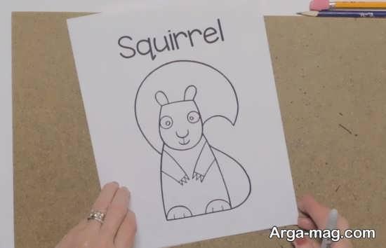 نقاشی سنجاب با روش آسان