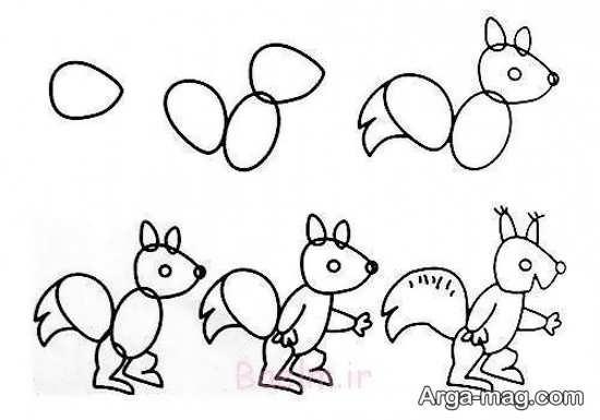 نقاشی کردن حیوان سنجاب