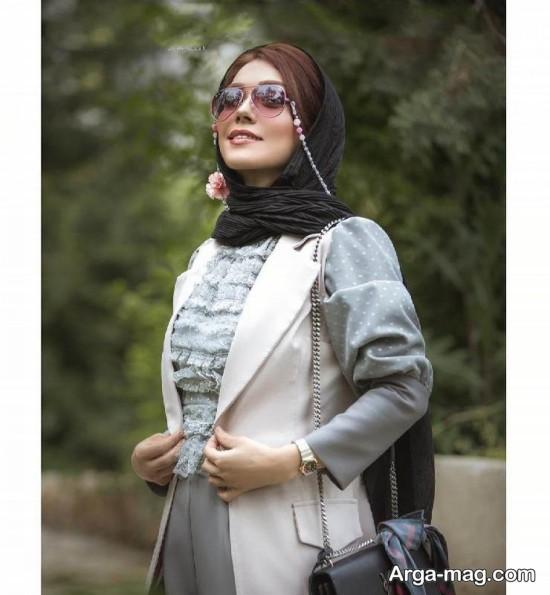 تصویری از تیپ لاکچری شهرزاد کمال زاده
