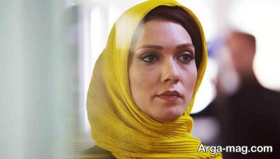 شهرزاد کمال زاده با روسری زرد