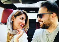 شوخی بامزه بابک جهانبخش و همسرش