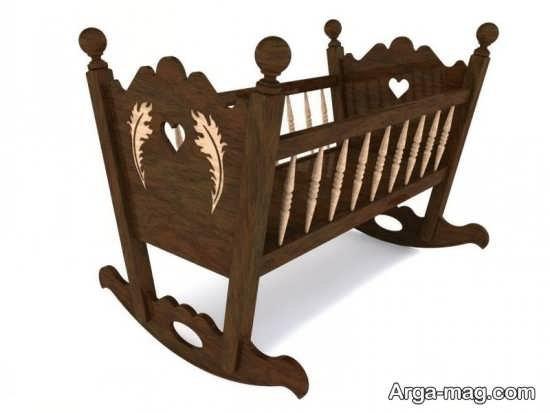 مدل تخت خواب چوبی نوزاد
