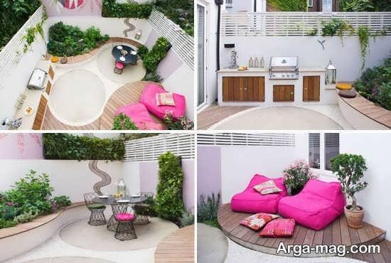 انواع طراحی حیاط خلوت