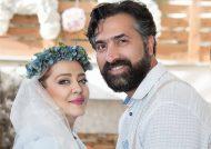 عکس عاشقانه بهاره رهنما با همسرش در فضای پاییزی