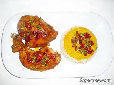 زرشک پلوی مجلسی با مرغ