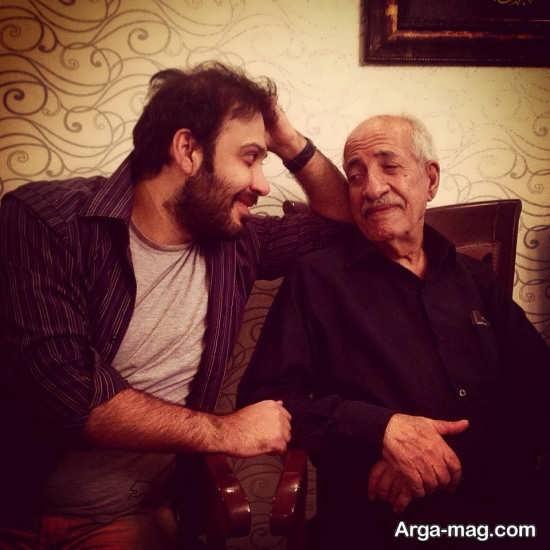 عکس قدیمی محسن چاوشی در کنار پدرش