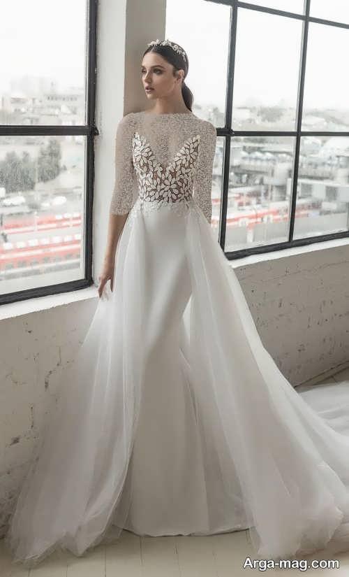 مدل لباس عروس 2019 کار شده