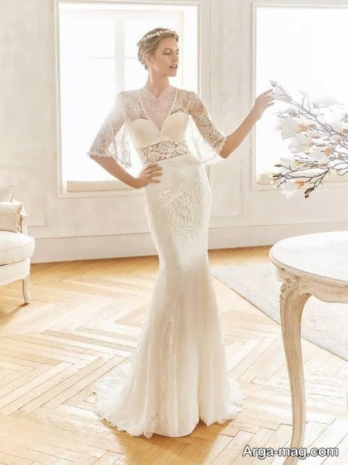 لباس عروس آستین دار و زیبا