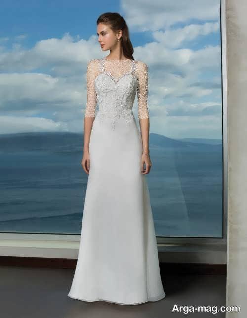 مدل لباس عروس ساده و زیبا 2019