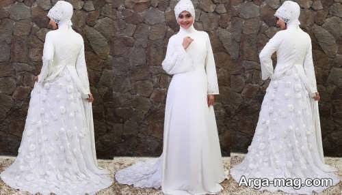 مدل لباس عروس شیک و کار شده