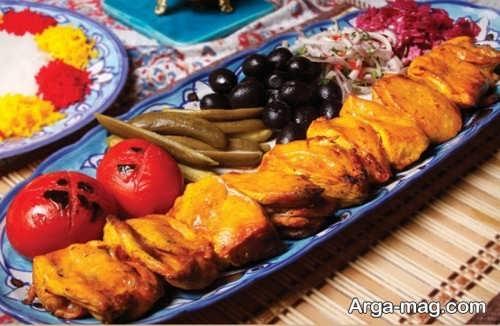 تزیین جوجه کباب مجلسی