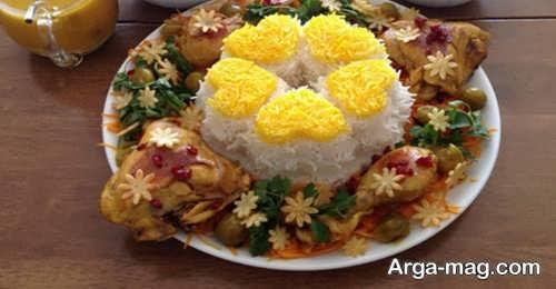 تزیین برنج برای عروسی