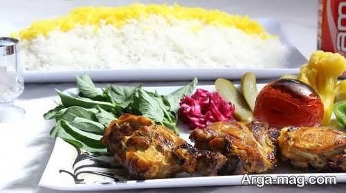 تزیین برنج و گوشت برای عروسی