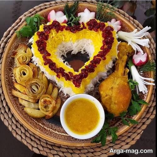 ایده هایی برای تزیین غذای عروس